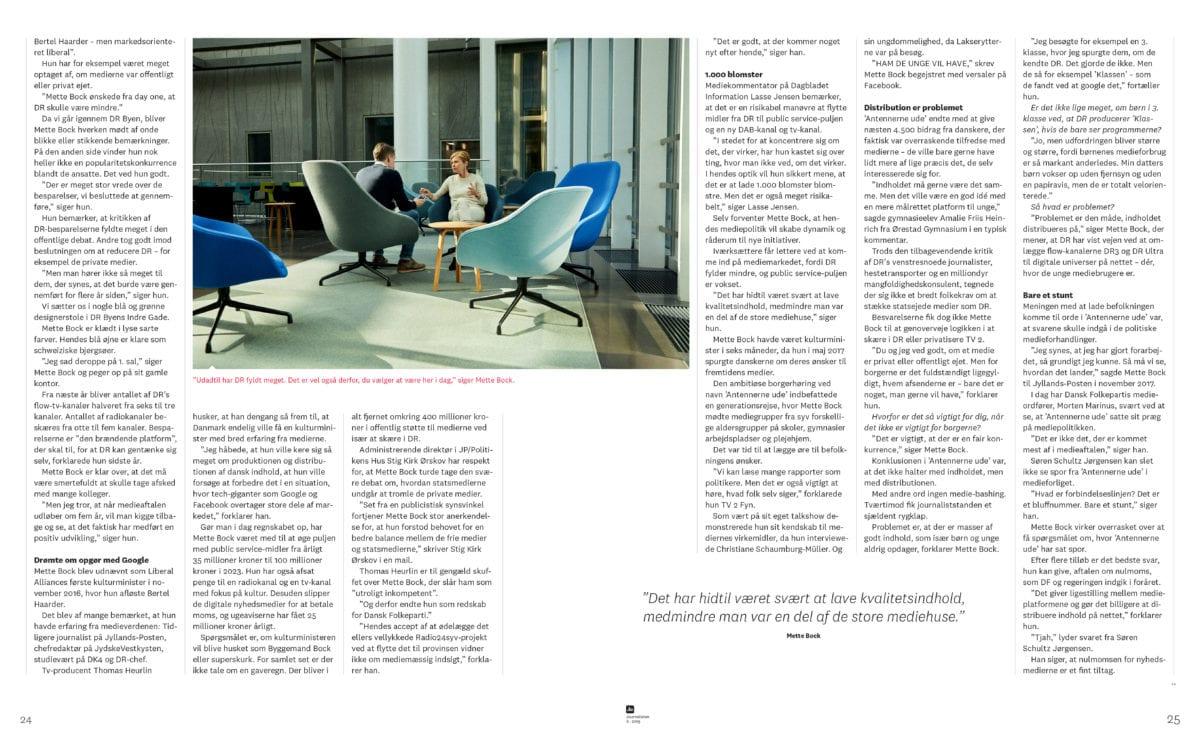 Det lærte jeg af at interviewe Mette Bock til Journalisten 2