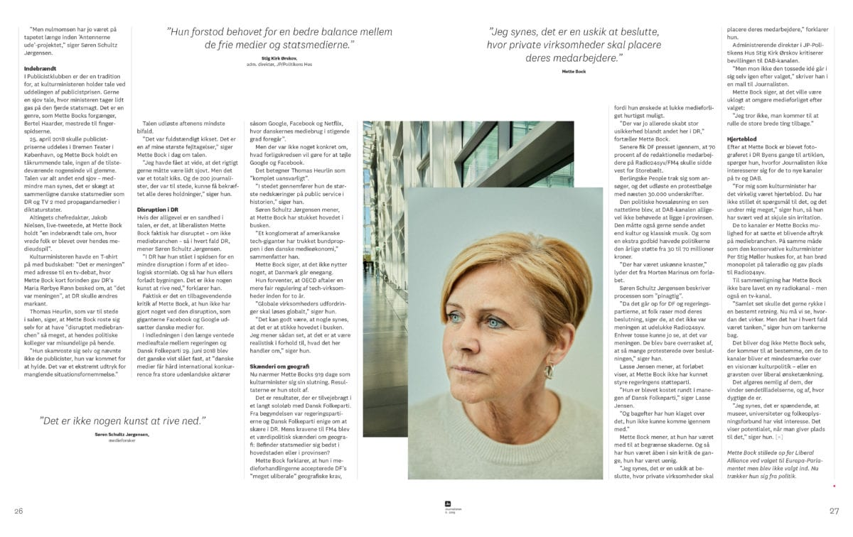 Det lærte jeg af at interviewe Mette Bock til Journalisten 3