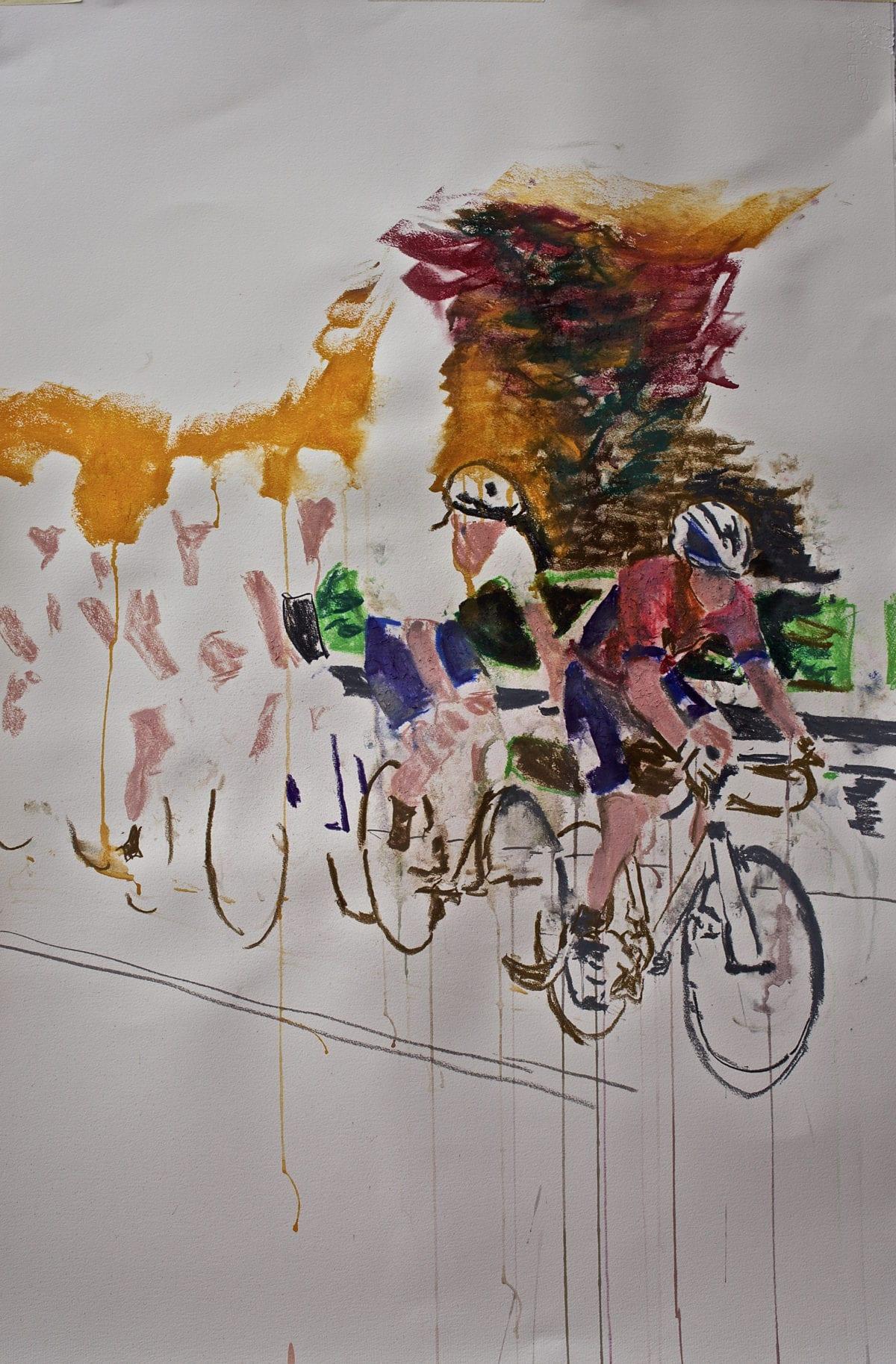 """Weekendavisen fik kunstner til at male cykelløb: """"Det er udfordrende ad helvede til"""" 2"""