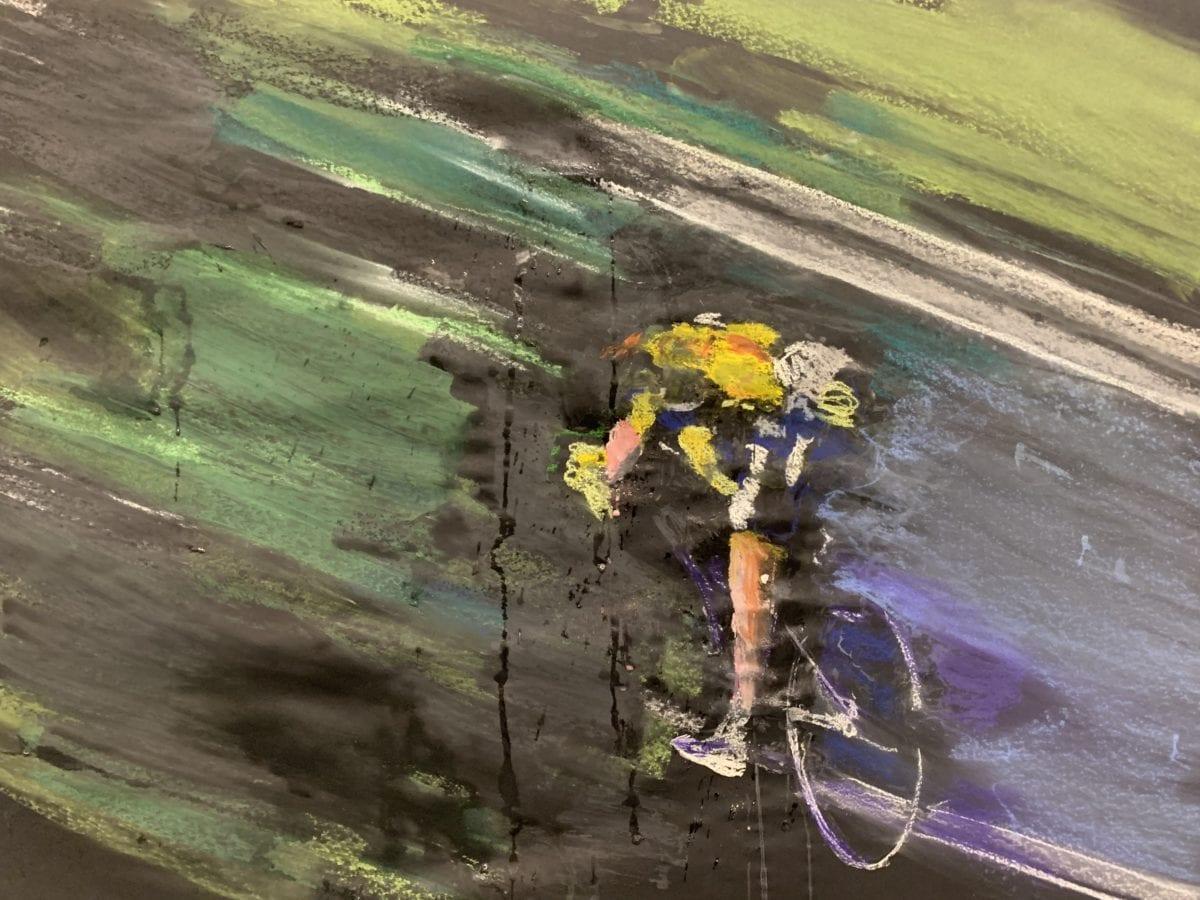 """Weekendavisen fik kunstner til at male cykelløb: """"Det er udfordrende ad helvede til"""" 4"""