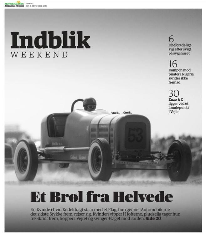 Sådan fik Jyllands-Posten reportage fra motorløb til at ligne layout fra 30'erne 2