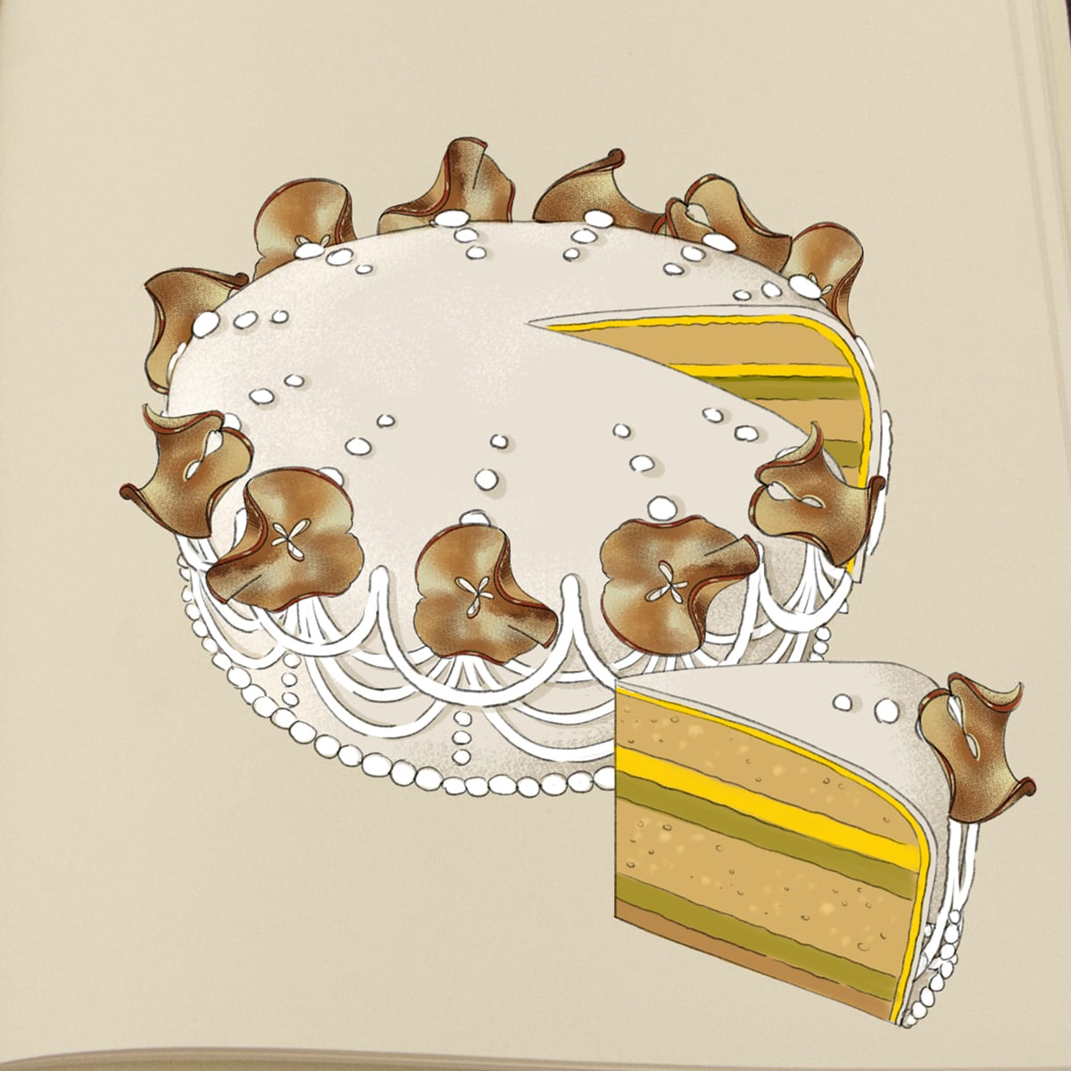 """Nanna tegner kagerne til Den Store Bagedyst: """"Vi er en hel lille kagefabrik"""" 3"""