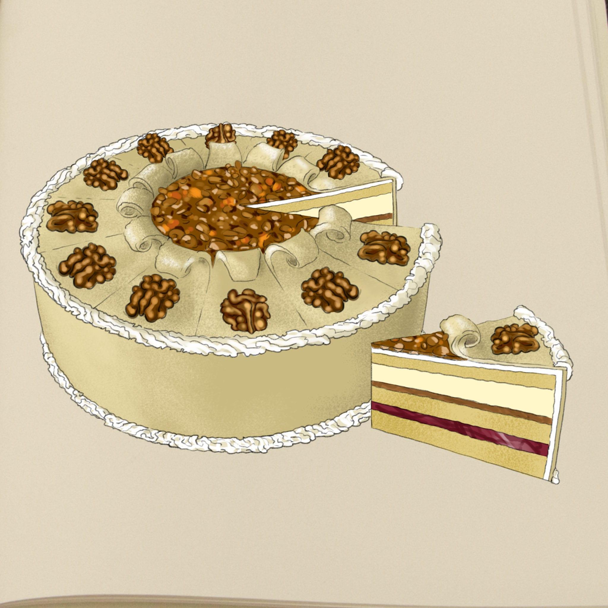 """Nanna tegner kagerne til Den Store Bagedyst: """"Vi er en hel lille kagefabrik"""" 1"""